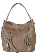 Sadies 2 For 1 Handbag Set Faux Leather Tote With Matching Leather Mini Purse