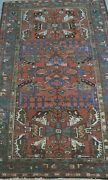 Antique Tribal Karajaa Hand Knotted Wool Oriental Rug Hand Washed 3.8 X 6.3