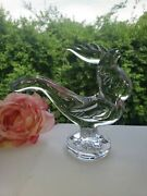 Crystal Animals And Figurines By New Martinsville - 668 Rooster Discontinued Rare