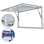 74 X 40 Concession Stand Trailer Serving Window Awning Food Truck Service Door