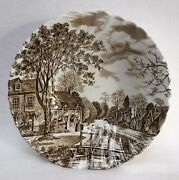 Johnson Brothers China Cotswold Brown Made In England Round Serving Bowl 8-1/4