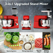 Heavy Duty Electric Meat Grinder Kitchen Mixer Blender Commercial 6 Speed Red