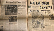 Martin Luther King Suspect James Earl Ray 2 1968 Newspapers Rfk Kennedy Funeral