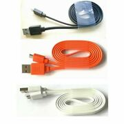 Micro Usb Flat Charger Cable Cord For Jbl Charge Flip 4 3 2 Pulse 2 3 Speakers