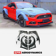 Kt Style Frp Unpainted Fit For 2015 Mustang Front And Rear Fender Mudguards Set