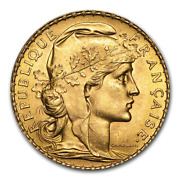 1913 France Gold 20 Francs French Rooster