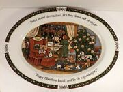 A Christmas Story By Susan Winget International China 16 Porcelain Oval Platter