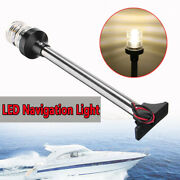 13and039and039 Led 4500k Boat Yacht Pontoon 360anddeg Navigation Stern Anchor Pole Light Ip65