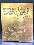 Ultra Rare - My Little Pony Coloring Activity Book Embossing Plate Dec And03905 - Htf