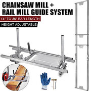 14-36 Chain Saw Mill Log Planking Lumber Cutting Bar And Rail Mill Guide Systems