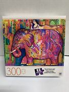 Brand New Hasbro Mb 300 Piece Pink Elephant Collector Puzzle 24 In X 18 In
