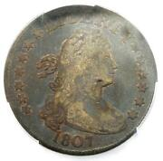 1807 Draped Bust Quarter 25c Coin - Certified Pcgs Vg10 - 750 Value