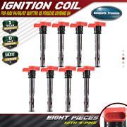 8x Ignition Coils Pack For Audi A6 A8 Quattro Q7 R8 S5 Volkswagen Touareg Uf-529