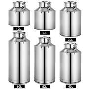 10l60l 304 Stainless Steel Milk Can Wine Pail Bucket Jug Oil Barrel Canister