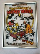 Vintage Walt Disney's Mickey Mouse And Pal Pluto Glass Cell