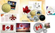 2017 Canada 150 Silver Coin And Set Plus 2015 Canada Flag Silver Coin And Stamp
