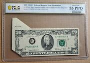 2 Consecutive 20 Fed Reserve Notes1969c Pre Overprint Fold Over W/cutting Error