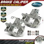 2x Rear Brake Calipers For Chrysler Town And Country 2008-2012 Dodge Grand Caravan