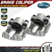 2x Brake Calipers For Jeep Cherokee Xj 1990-2001 Wrangler Tj Front Left And Right