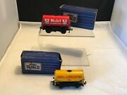 Hornby Dublo 2 X Tankers Shell Oil And Mobil Boxed
