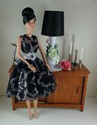 Black And Silver Lace Cocktail Dress Fits Fashion Royalty,silkstone Barbie Dolls