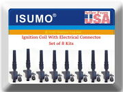 8 X Ignition Coil W/connector Fitsmotorcraft Dg508 Oem1l2z12029aa Ford Lincoln