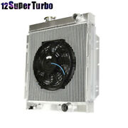 3 Core Performance Radiator+10 Fan Fits 64-66 Ford Mustang Mt 6cyl / V8 Only