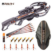 Ravin R29 430 Fps Crossbow + Soft Case W 6 Lighted Nocks 6 Broadheads And Fluid