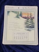 A Friendly Ryte Me Calendar Complete 1918 Naked Eye Antiques And Collectibles