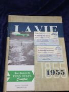1955 Psu Centennial 4 Pieces Yearbook Campus Map Tickets Naked Eye Antiques