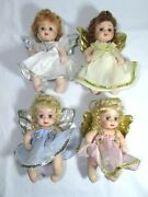 4 Vintage Classic Creations All Porcelain Angel Baby Dolls 6