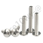 M4 - M8 Phillips Drawer Knobs Pull Handle Truss Head Screws-304 Stainless Steel
