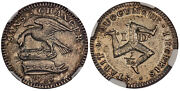 Isle Of Man. 1733 Ar 1/2 Penny. Ngc Pr63 Km 4b.1 Sans Changer Without Change