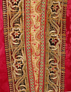 Rare Old Bukhara Silk And Gold Embroidery Infant Festive Robe