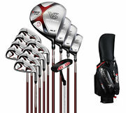 Menand039s Regular Complete Golf Club Set Driver Iron Hybrid Putter 13 Pcs With Bag