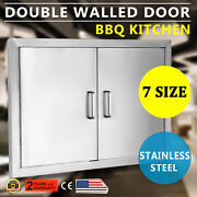 31 Outdoor Kitchen / Bbq Island Stainless Steel Double Access Door Usa New