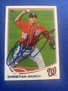 2013 Topps Christian Garcia 278 Auto Signed Autograph Nationals