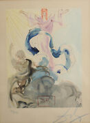 Salvador Dali Woodcut On Paper Paradise 3 - Piccarda Donati Signed Numbered