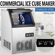 150lb Built-in Commercial Ice Maker Undercounter Freestand 59 Ice Cube Machine