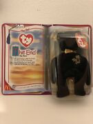 Rare Mcdonalds Ty Beanie Legends The End Bear 1999 Retired With Errors