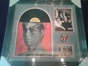 The Rolling Stones Band Signed Tattoo You Lp Custom Framed With C.o.a. Rare