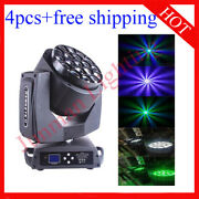 1915w Rgbw 4 In 1 Led Bee Eyes Beam Wash Moving Head Stage Light 4pcs With Case
