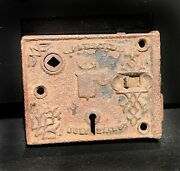 Antique Cast Iron Lock Not Working No Key Home Decor Cast Iron Collectible Piece