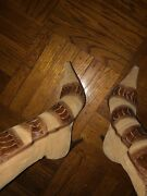 Boutteqe European Pointed Toe Suede Boots Size 40 3inch