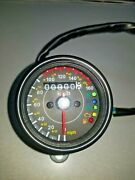 Universal Led Motorcycle Odometer Mph Kph Mini Speedometer Mph Gauge Cafe Racer