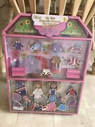 New Magnetic Wooden Dress Up Doll House Toy Play Set Large Aal1