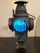The Adlake Non Sweating Lamp Chicago+ Mounting Base Working Central Vermont Rr