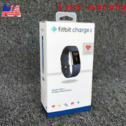 Fitbit Charge 2 Hr Heart Rate Monitor Fitness Wristband Tracker - Size S And L