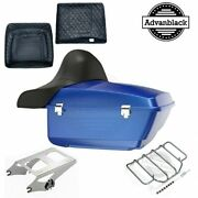 Blue Max King Tour Pack Pak For Harley Street Road Electra Glide 97+