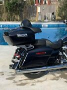 Midnight Blue King Tour Pack Pak For Harley Street Road Electra Glide 97+